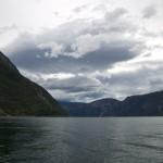 Utsikt over Hardangerfjorden fra Eidfjord