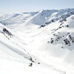 Snøbrett ned Langedalen